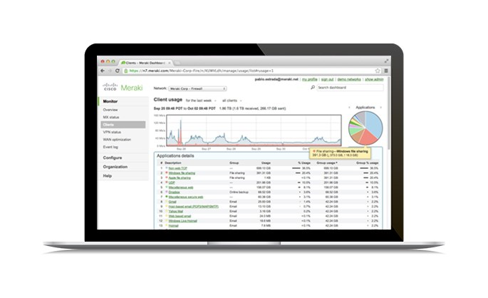 Wireless networks - Cisco Meraki's cloud managed networking interface