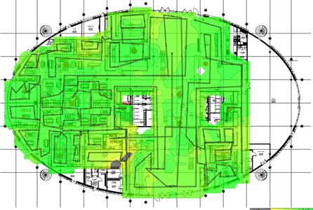 Wireless networks - Prodec networks customer wireless heatmap