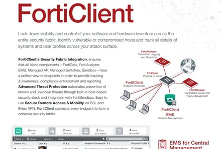 Endpoint Security - Fortinet FortiClient datasheet