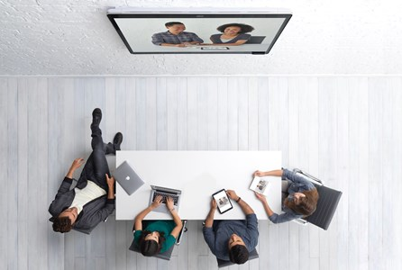 Video Conferencing | Cisco spark being used in a meeting room to video conference