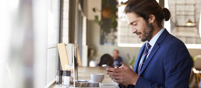 Unified communications - businessman on the go