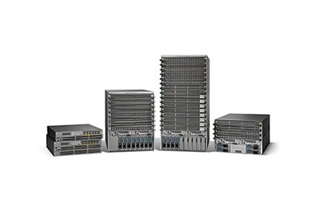 Routers and switches - A set of Cisco switches and routers