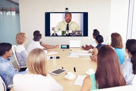 Modern meeting rooms - Video conferencing in a meeting room